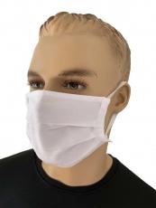 Mund- & Nasen-Maske aus 100% Baumwolle, weiß