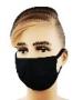 Mund- & Nasen-Maske aus 100% Baumwolle, schwarz