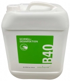 B40 Flächen-Schnelldesinfektion, 10 Liter Kanister