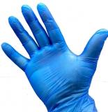 Vinyl-Einmalhandschuhe, blau, leicht gepudert